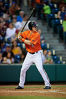 Richmond Flying Squirrels designated hitter Jerry Sands (35) at bat during a game against the Trenton Thunder on May 11, 2018 at The Diamond in Richmond, Virginia.  Richmond defeated Trenton 6-1.  (Mike Janes/Four Seam Images)