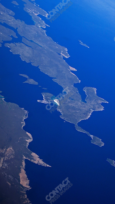 Aerial view of the Falkland Islands, December 2007.