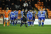Reading's Lucas Boye (third right) celebrates scoring the opening goal with team-mates<br /> <br /> Photographer Kevin Barnes/CameraSport<br /> <br /> Emirates FA Cup Third Round Replay - Blackpool v Reading - Tuesday 14th January 2020 - Bloomfield Road - Blackpool<br />  <br /> World Copyright © 2020 CameraSport. All rights reserved. 43 Linden Ave. Countesthorpe. Leicester. England. LE8 5PG - Tel: +44 (0) 116 277 4147 - admin@camerasport.com - www.camerasport.com