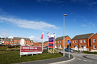 Pictured: The Parc Y Strade housing development where the former home ground of the Scarlets, STradey Park, used to be. Wednesday 09 March 2018<br /> Re: The effect that the Scarlets RFC has had in the town of Llanelli in Carmarthenshire and the west Wales region.