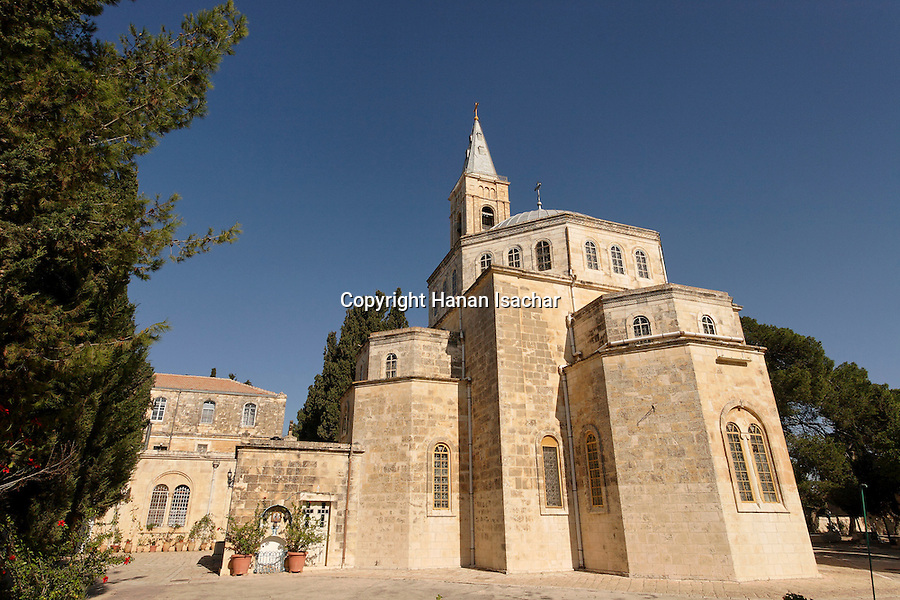 Israel, Jerusalem, The Russian Orthodox Church of the Ascension on the Mount of Olives was built between 1870 and 1887<br />