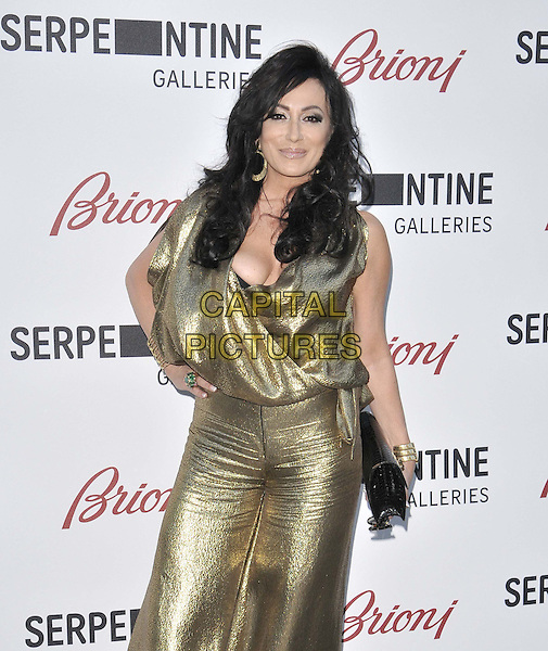 LONDON, ENGLAND - JULY 01: Nancy Dell'Olio attends the Serpentine Gallery Summer Party, Serpentine Gallery, Kensington Gardens, Hyde Park, on Tuesday July 01, 2014 in London, England, UK.<br /> CAP/CAN<br /> &copy;Can Nguyen/Capital Pictures