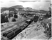 Durango yard from upper stock track.<br /> D&amp;RGW  Durango, CO  Taken by Payne, Andy M. - 7/30/1968