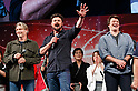 (L to R) Actors Mads Mikkelsen, Karl Urban and Nathan Fillion, speak during the Grand Finale event for the Tokyo Comic Con 2017 at Makuhari Messe International Exhibition Hall on December 3, 2017, Tokyo, Japan. This is the second year that San Diego Comic-Con International held the event in Japan. Tokyo Comic Con runs from December 1 to 3. (Photo by Rodrigo Reyes Marin/AFLO)