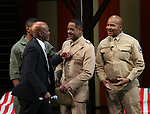"""Kenny Leon, Blair Underwood and David Alan Grier  During the Broadway Opening Night Curtain Call Bows for The Roundabout Theatre Company's """"A Soldier's Play""""  at the American Airlines Theatre on January 21, 2020 in New York City."""