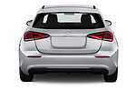 Straight rear view of a 2019 Mercedes Benz A Class Progressive 5 Door Hatchback stock images