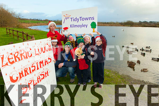 Getting ready for the Kilmoyley Tidy Towns Christmas Day Splash at Lerrig Lough were: Padraig Regan, Rachel Flaherty, Caoimhe Regan, Clodagh Regan, Grainne Carroll, Aoibhe Kearney and Phil Flaherty.