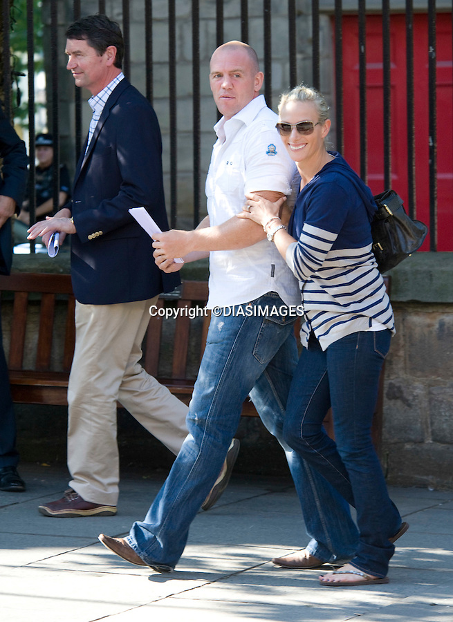"""ZARA PHILLIPS & MIKE TINDALL.wedding Rehearsals, Canongate Kirk, Edinburgh_29/07/2011.Mandatory Credit Photo: ©DIASIMAGES..**ALL FEES PAYABLE TO: """"NEWSPIX INTERNATIONAL""""**..No UK Usage until 29/07/2011.IMMEDIATE CONFIRMATION OF USAGE REQUIRED:.DiasImages, 31a Chinnery Hill, Bishop's Stortford, ENGLAND CM23 3PS.Tel:+441279 324672  ; Fax: +441279656877.Mobile:  07775681153.e-mail: info@newspixinternational.co.uk"""