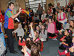 Martin the Magician performing at the magic show in the library. Photo: Colin Bell/pressphotos.ie