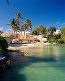 BERMUDA, Cambridge Beach with resort and palm trees