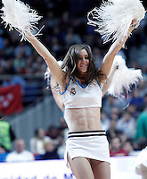 Real Madrid's cheerleader during Euroleague 2012/2013 match.January 11,2013. (ALTERPHOTOS/Acero) /NortePhoto