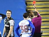 30th September 2017, Madejski Stadium, Reading, England; EFL Championship football, Reading versus Norwich City; Marley Watkins of Norwich City receives a red card from the referee