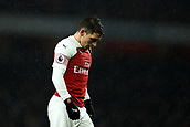 29th January 2019, Emirates Stadium, London, England; EPL Premier League Football, Arsenal versus Cardiff City; A dejected looking Lucas Torreira of Arsenal after a chance goes begging