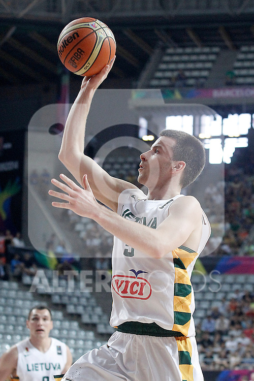 Lithuania's Adas Juskevicius during 2014 FIBA Basketball World Cup Quarter-Finals match.September 9,2014.(ALTERPHOTOS/Acero)