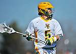 17 March 2012: University of Vermont Catamount Midfielder Andrew Buckanavage, a Freshman from Ridgefield, CT, in action against against the Sacred Heart University Pioneers at Virtue Field in Burlington, Vermont. The Catamounts defeated the visiting Pioneers 12-11 with only 10 seconds remaining in their non-conference matchup. Mandatory Credit: Ed Wolfstein Photo