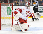 Matt O'Connor (BU - 29) - The Boston College Eagles defeated the Boston University Terriers 3-1 (EN) in their opening round game of the 2014 Beanpot on Monday, February 3, 2014, at TD Garden in Boston, Massachusetts.