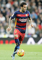 FC Barcelona's Daniel Alves during La Liga match. November 21,2015. (ALTERPHOTOS/Acero) /NortePhoto
