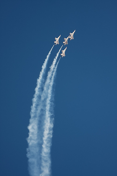 The Thunderbirds perform during Aviation Nation at Nellis Air Force Base in Las Vegas, NV.
