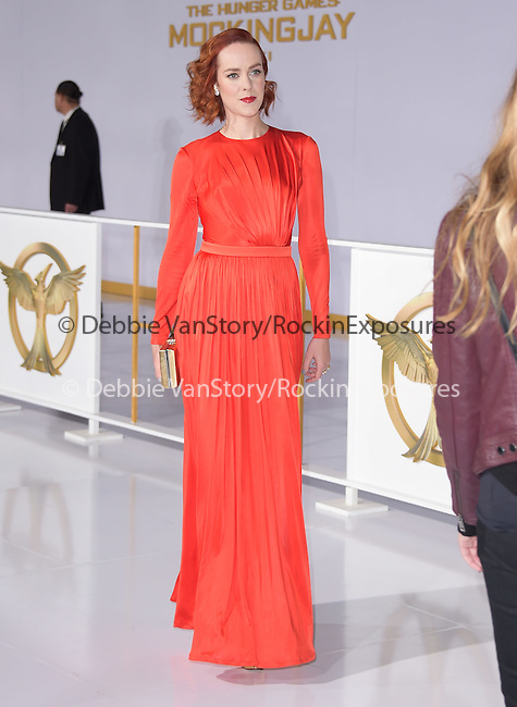 Jena Malone at The  Los Angeles Premiere of The Hunger Games: Mockingjay - Part 1 held at  Nokia Theatre L.A. Live in Los Angeles, California on November 17,2014                                                                               © 2014 Hollywood Press Agency