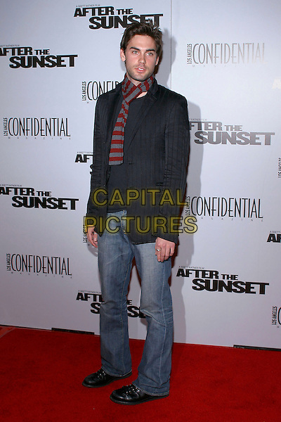 "DREW FULLER.At the premiere of ""After The Sunset"" held at Grauman's Theatre, Hollywood, California, USA, .full length red & grey striped scarf.**UK SALES ONLY**.Ref: ADM.www.capitalpictures.com.sales@capitalpictures.com.©Capital Pictures."