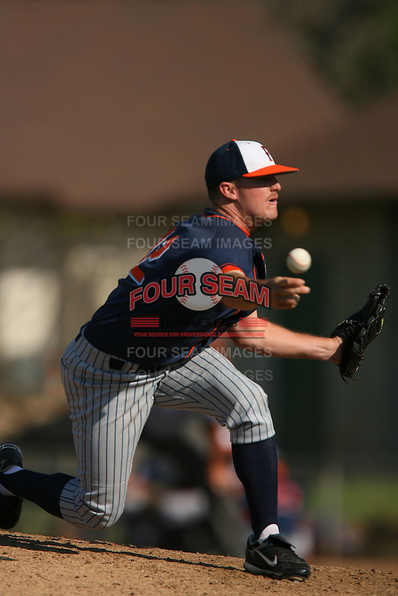 March 28 2009: Ryan Ackland of the CS Fullerton Titans during game against the UC Riverside Highlanders at Riverside Sports Complex in Riverside,CA.  Photo by Larry Goren/Four Seam Images