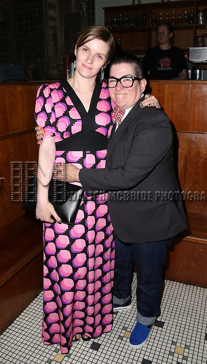 Chelsea Fairless and Lea DeLaria attends the After Party for the One Night Only 10th Anniversary Concert of 'The 25th Annual Putnam County Spelling Bee' at Town Hall on July 6, 2015 in New York City.