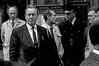 Detective Chief Inspector, Robert Agar, RUC, N Ireland, LH 95/74, 197400000095. Agar is plain clothes in dark jacket and slightly to the left of the photo.<br />