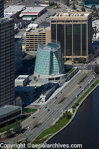 aerial photograph of Cathedral of Christ the Light Oakland California