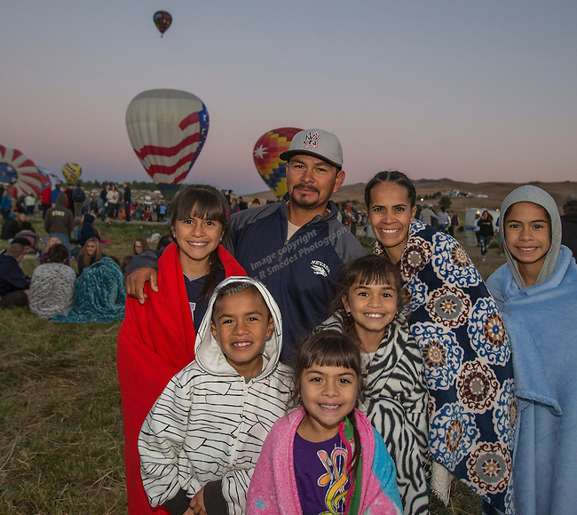 The Hernandez family at the Great Reno Balloon Races held on Saturday, Sept. 10, 2016.