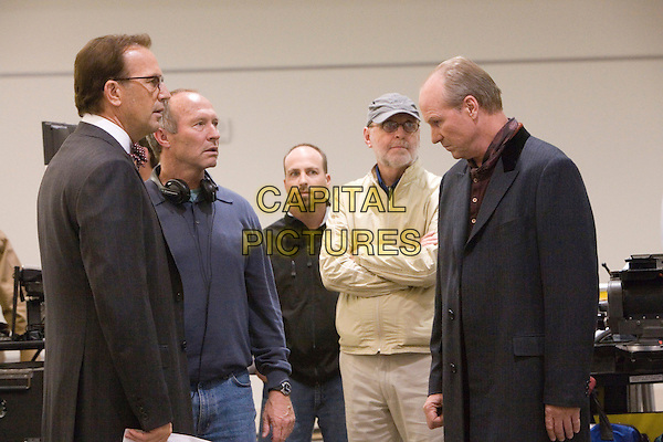 KEVIN COSTNER, BRUCE E. EVANS (DIRECTOR) & WILLIAM HURT.on the set of Mr. Brooks  .**Editorial Use Only**.CAP/FB.Supplied by Capital Pictures