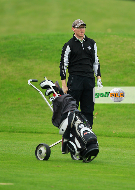 Greame Dunlea (Adare Manor) on the 14th during Round 3 of The Cassidy Golf 103rd Irish PGA Championship in Roganstown Golf Club on Saturday 12th October 2013.<br /> Picture:  Thos Caffrey / www.golffile.ie