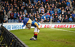 05.12.2018 Rangers v Aberdeen: Broxi takes a bow after falling on his bear arse