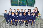 Starting school were the junior infants class from Scoil Mhuire Na mBuachaillí, Abbeyfeale, pictured here last friday with their teacher Julie O'Brien was F l-r: JJ Cronin, Jamie Kelliher, Daven Healy, Bradley O'Brien, Marvellous Ivo, Killian Healy, William McCarthy. B l-r: Tristan Murphy, Michael O'Brien, Tim Quirke, Conor Lyons, Ryan Walsh, Jack O'Riordan, Conor Kinsella and Thomas O'Brien.