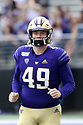 SEATTLE, WA - September 07: Washington's A.J. Carty during the college football game between the Washington Huskies and the California Bears on September 07, 2019 at Husky Stadium in Seattle, WA. Jesse Beals / www.Olympicphotogroup.com