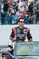 7-15 February  2009, Daytona Beach, Florida USA.Sam Hornish,Jr. during driver intros for the Daytona 500..©F.Peirce Williams 2009.LAT Photographic