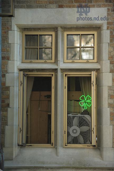 Alumni Hall window..Photo by Matt Cashore/University of Notre Dame