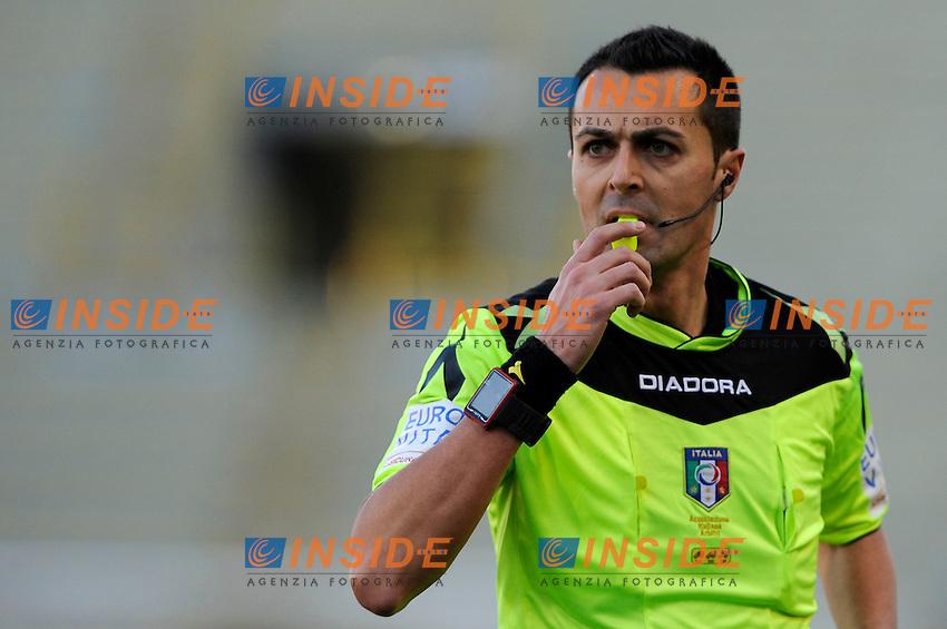 Arbitro Marco Di Bello <br /> Bologna 17-01-2016 Stadio Dall'Ara Football Calcio Serie A 2015/2016 Bologna - Lazio Foto Insidefoto