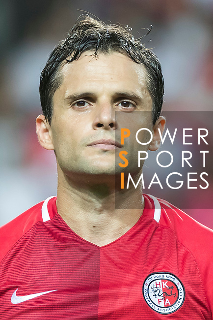 Roberto Orlando Affonso Junior of Hong Kong during the 2019 Asian Cup Qualifier match between Hong Kong and Korea DPR on June 13, 2017 in Hong Kong, China. Photo by Chris Wong / Power Sport Images.