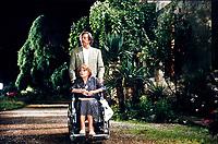 """Lila Kedrova actress, Jean Rochefort actor. """"La prossima volta il fuoco"""" Diretto da regista Fabio Carpi. Pordenone (Località Panicai) giugno 1993. © Leonardo Cendamo"""