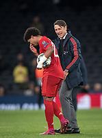 Bayern Munich manager Niko Kovač of Bayern Munich & Serge Gnabry of Bayern Munich at full time  during the UEFA Champions League group match between Tottenham Hotspur and Bayern Munich at Wembley Stadium, London, England on 1 October 2019. Photo by Andy Rowland.