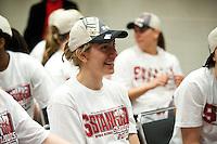SPOKANE, WA - MARCH 28, 2011: Toni Kokenis, Stanford Women's Basketball vs Gonzaga, NCAA West Regional Finals at the Spokane Arena on March 28, 2011.