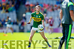 Tom O'Sullivan Kerry in action against  Galway in the All Ireland Senior Football Quarter Final at Croke Park on Sunday.