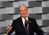 Former New York City Mayor Michael Bloomberg makes remarks during the third session of the 2016 Democratic National Convention at the Wells Fargo Center in Philadelphia, Pennsylvania on Wednesday, July 27, 2016.<br /> Credit: Ron Sachs / CNP<br /> (RESTRICTION: NO New York or New Jersey Newspapers or newspapers within a 75 mile radius of New York City)