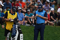 Tyrrell Hatton (ENG) on the 17th tee during the final round at the PGA Championship 2019, Beth Page Black, New York, USA. 20/05/2019.<br /> Picture Fran Caffrey / Golffile.ie<br /> <br /> All photo usage must carry mandatory copyright credit (© Golffile | Fran Caffrey)