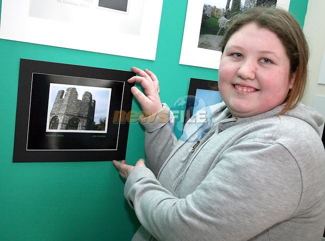 Julie Bowhan with her photo at the Photo Exhibition in the Connect Family Resource Centre, Moneymore...Photo NEWSFILE/Jenny Matthews.(Photo credit should read Jenny Matthews/NEWSFILE)....This Picture has been sent you under the condtions enclosed by:.Newsfile Ltd..The Studio,.Millmount Abbey,.Drogheda,.Co Meath..Ireland..Tel: +353(0)41-9871240.Fax: +353(0)41-9871260.GSM: +353(0)86-2500958.email: pictures@newsfile.ie.www.newsfile.ie.FTP: 193.120.102.198.