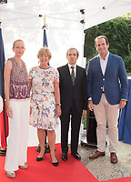 French Ambassador in Spain Yves Saint-Geours (CR) and his wife Jocilene (CL); Maria de la Puerta (L) and her boyfriend