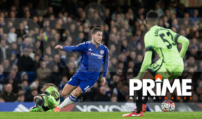during the FA Cup 5th round match between Chelsea and Manchester City at Stamford Bridge, London, England on 21 February 2016. Photo by Andy Rowland.