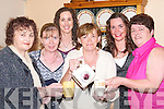 TIME OUT: Time out for Tea Lady Kitty Gaynor of the Time-piece cafe @ Dunnes Stores Horan Centre, Tralee, as she pours her last cup of tea to her colleagues at Liz Bests house in Ardfert on Monday evening. L-r: Catherine Bradley, Rosemarie Campbell, Jennifer Bradley, Kitty Gaynor, Aine Nolan and Liz Best. .