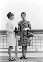 Le couple Royal Thailandais, Rama IX (Bhumibol Adulyadej) et la Reine Sirikit Kitiyakara à Québec<br /> le  22 juin 1967<br /> <br /> Photographe : Photo Moderne