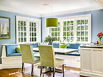 Cozy Breakfast Nook by Robert A. Cardello Architects